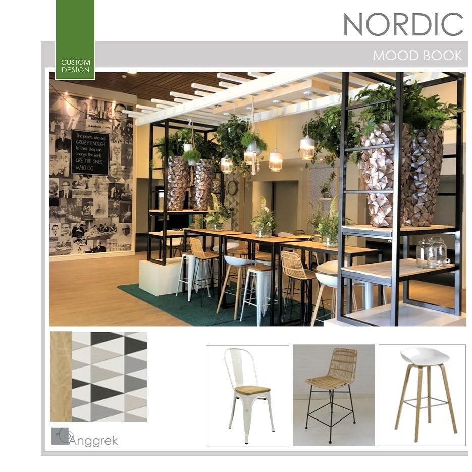 natuurlijke nordic inrichting in wit hout groen zwart