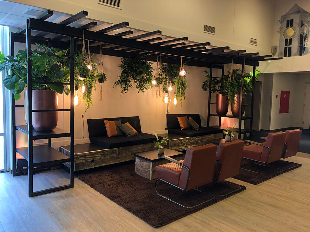 sfeervolle kooldraadlampen en hangplanten urban jungle