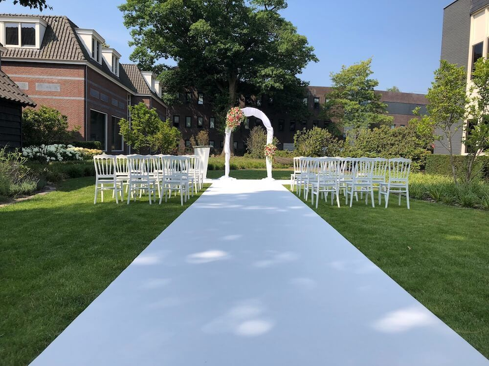 Traditioneel moderne inrichting bruiloft